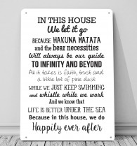 In this House we do, Disney inspired metal sign