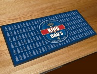 King of Dads beer label bar runner