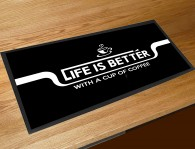 Lifes better with Coffee bar runner