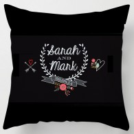 Personalised wedding chalkboard style cushion