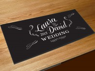 Personalised Wedding script bar runner