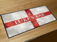 Personalised St Georges flag bar runner