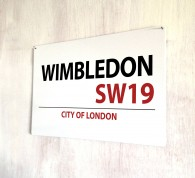Wimbledon london metal street Sign