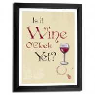 wine oclock art print