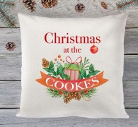 Personalised Family Christmas (bauble) cushion