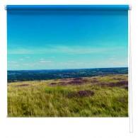 Yorkshire Moors Heather printed blind