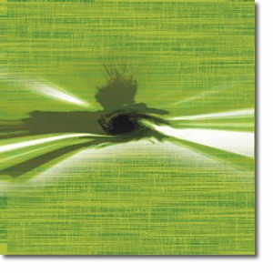 Green whirl Abstract Canvas Art