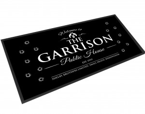 The Garrison Public House bar runner mat