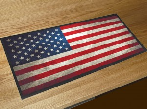 American flag bar runner mat