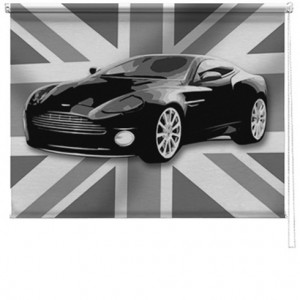 Aston martin car printed blind