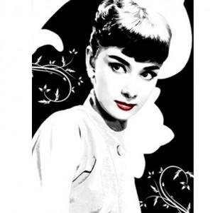 Audrey Heburn 2 printed blind