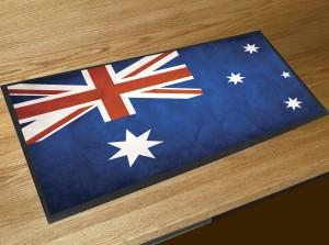 Australian Flag bar runner