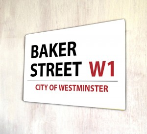 Baker Street London metal Street sign