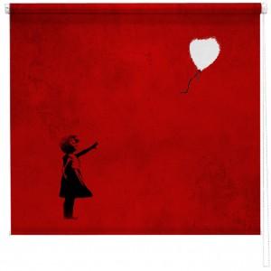 Banksy balloon girl sized printed blind