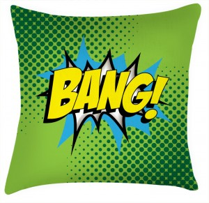BANG comic style cushion