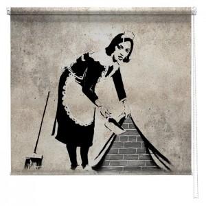 Banksy graffiti printed blind Sweeper