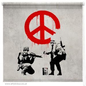 Banksy Peace not War blind