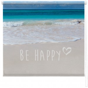 Be Happy seascape blind
