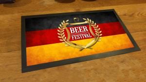 German flag Beer Festival bar runner mat