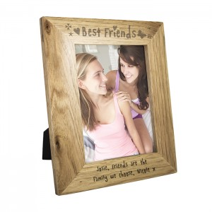 Personalised 5x7 Best Friends Wooden Frame