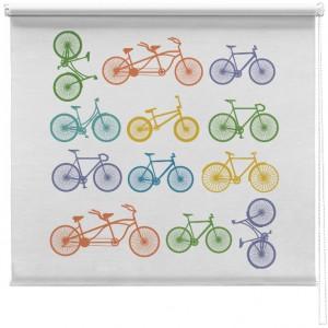 Bicycle Illustration Printed Blind