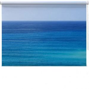Blue sea printed blind