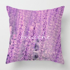 'Breathe' Lavender photo cushion