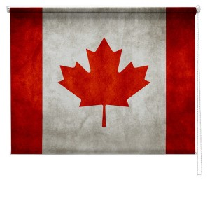 Canadian flag printed blind