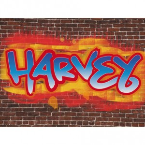 Personalised Graffiti childrens canvas art