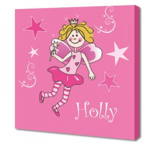 Personalised fairy childrens canvas art