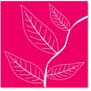Pink Leaves Abstract Canvas Art