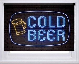 Cold Beer Neon sign printed blind