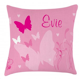Personalised Butterfly childrens cushion