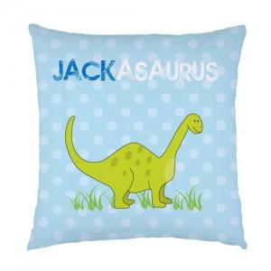 Personalised Dinosaur childrens cushion
