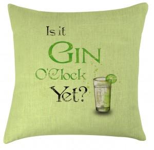 Gin O'clock cushion