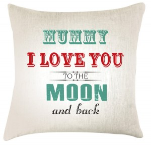 Love you to the Moon (family) cushion