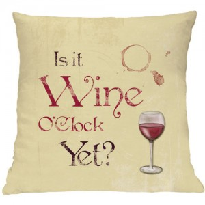 Wine O'clock cushion
