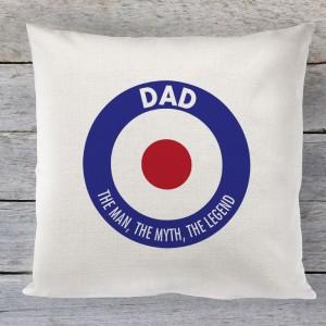 Dad mod circle linen cushion