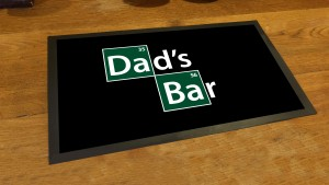 Dads bar breaking bad runner beer pub mat