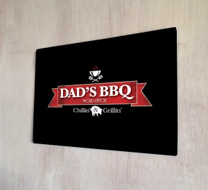 Dad's BBQ metal sign