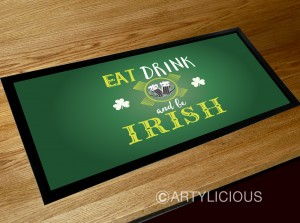Eat Drink and be Irish bar runner mat