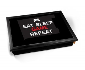 Eat sleep game repeat lap tray