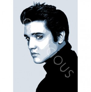 Elvis printed blind