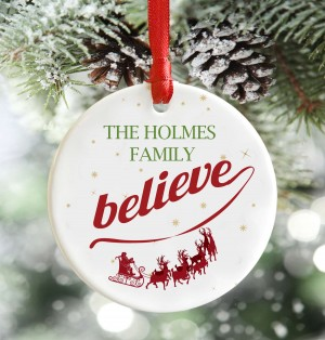 Personalised we believe, Christmas decoration