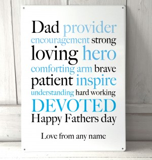 Fathers Day wise words Sign