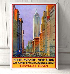 Fifth Avenue New York Vintage Sign