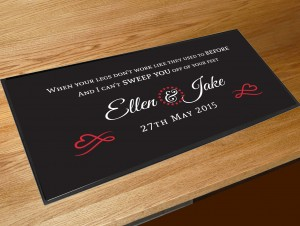 Personalised Wedding first dance bar runner