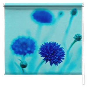 Blue Flower printed blind