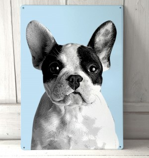 French Bulldog metal sign