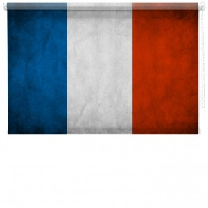 France flag Printed Blind